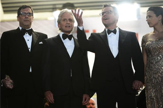 Michael Douglas et Matt Damon, men in black