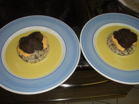 Restaurant des Gourmets  - Risotto aux truffes, quenelles de Saint Jacques et truffes fraîches -   © Denis