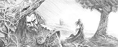 crayonné issu de légendes de l'ulster.