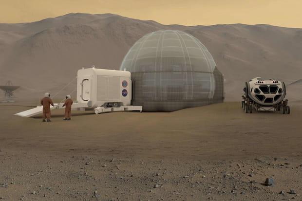 Un igloo géant pour le pôle Nord de Mars
