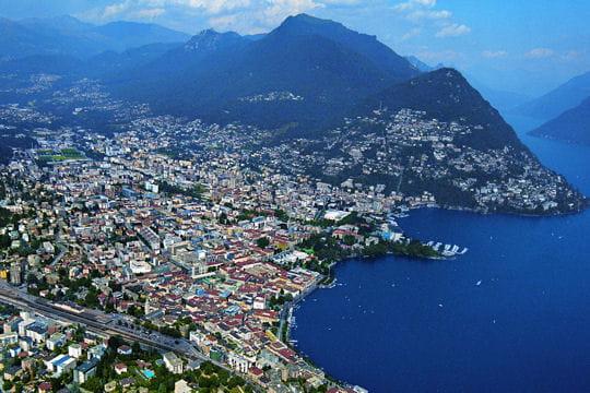 Lugano dans le canton du Tessin
