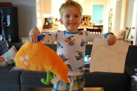 Transformez les dessins de vos enfants en peluches