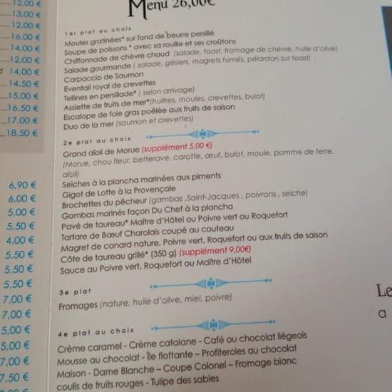 Restaurant : Restaurant des Voyageurs  - Menu a 26€ -