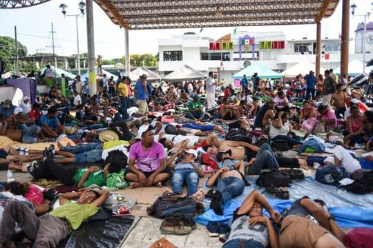 La caravane des migrants atteint 100 kilomètres parcourus au Mexique 10963751