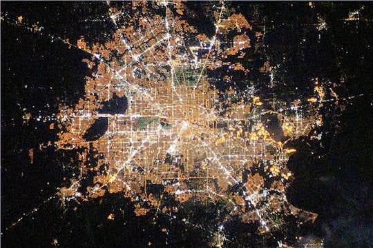 Vue de Houston depuis l'ISS