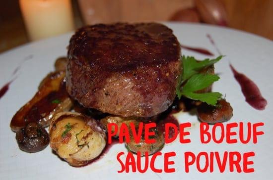 Plat : Bistrot des Deux Horloges  - Pavé de bœuf sauce au poivre  -