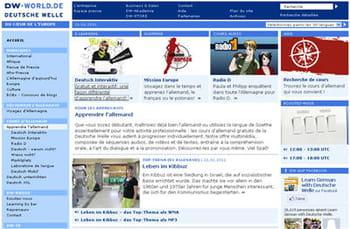 copie d'écran du site dw-world.de