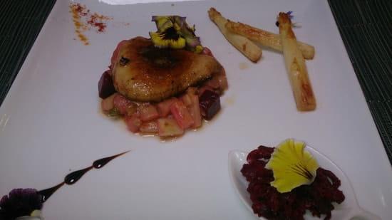 Aux Saveurs des Jardins  - Petits légumes glacés, foie gras poëlé -
