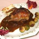 Restaurant la Ciboulette  - Le pigeon rôti à la fondue déchalote -