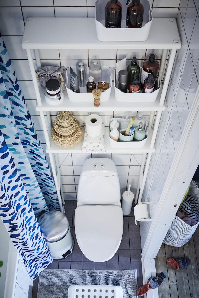 Meuble Dessus Toilette Ikea les toilettes : meubler au-dessus