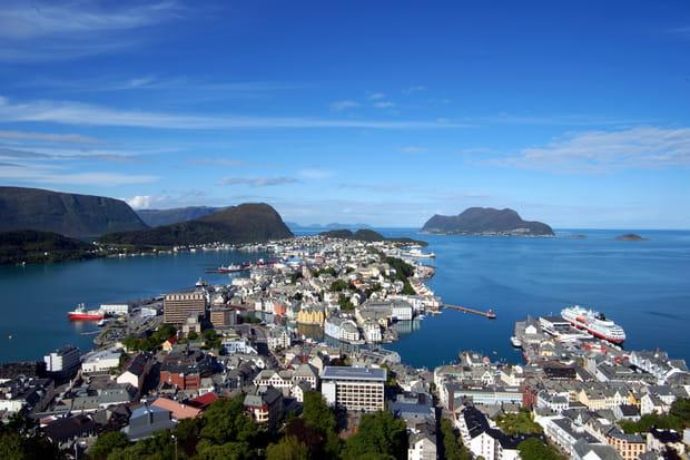 Alesund, proche des fjords