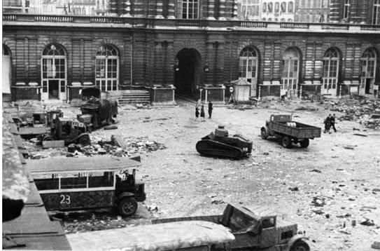 La libération du Palais du Luxembourg