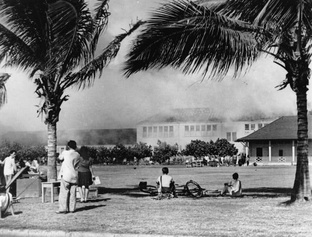 Ecole brûlée