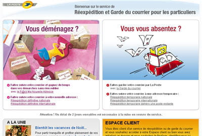 Faire suivre son courrier postal depuis internet - Reexpedition definitive du courrier ...