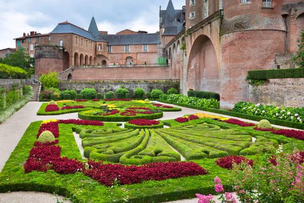 Les jardins du palais de la Berbie à Albi