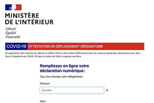 Attestation de déplacement: couvre-feu, confinement... Quel document télécharger?