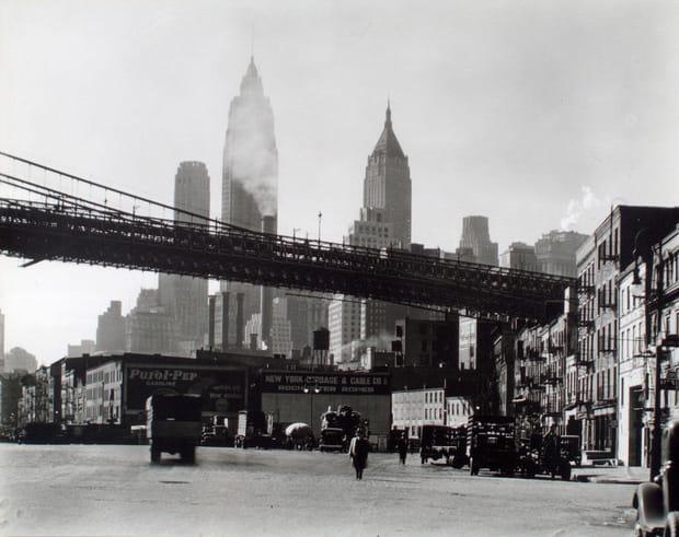 Brooklyn Bridge et South Street, Manhattan, 1935