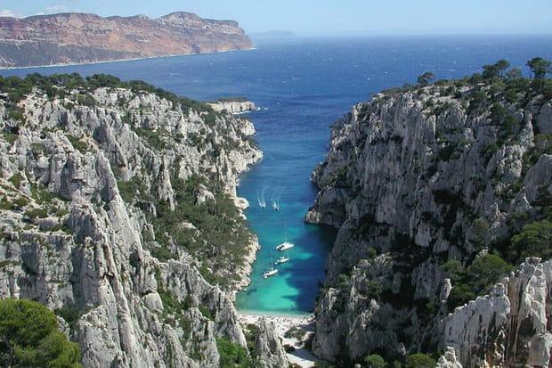 La Calanque d'En-Vau à Marseille (Bouches-du-Rhône)