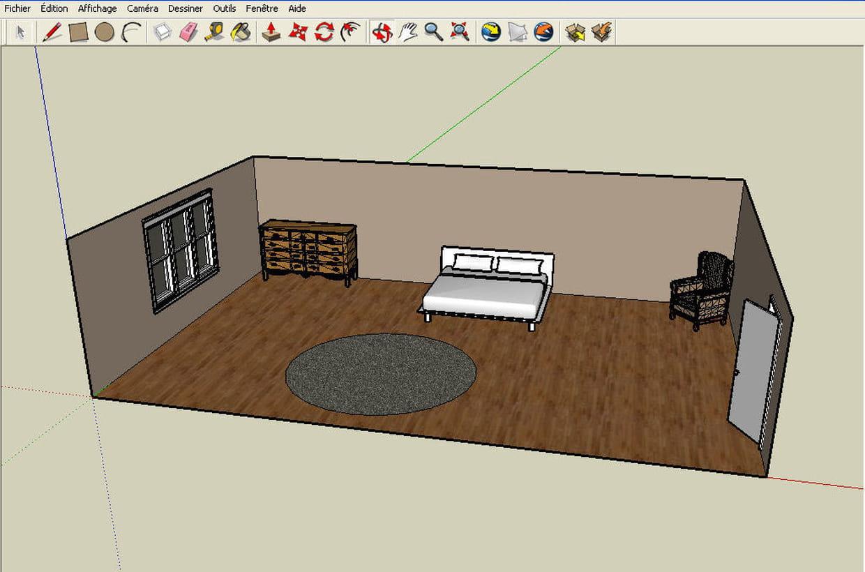 Plan De Chambre En 3D – Maison Moderne
