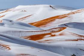Le spectacle incroyable des dunes du Sahara sous la neige [PHOTOS]