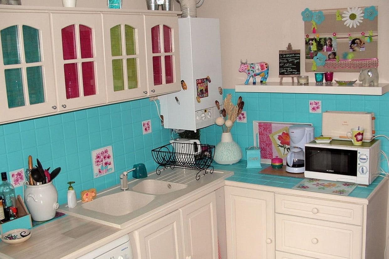Une cuisine colorée