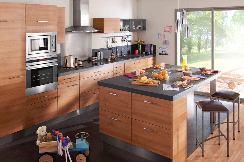 lot de cuisine ecorce noyer de lapeyre. Black Bedroom Furniture Sets. Home Design Ideas