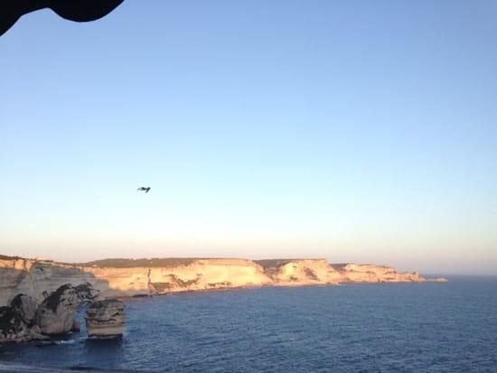 Restaurant : U Castille  - Coucher de soleil sur les falaises (vue depuis la terrasse ) -