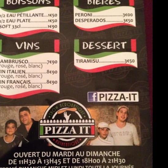 Boisson : Pizza It  - Boissons et dessert (Glaces à voir sur place)  -