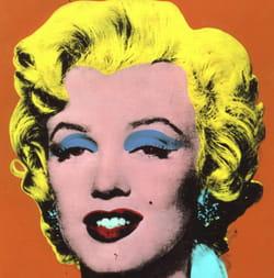 Andy Warhol représente Marilyn Monroe