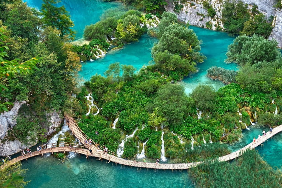Les lacs de Plitvice, en Croatie