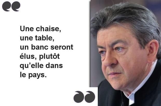 "Mélenchon:""Un banc sera élu plutôt qu'elle"""