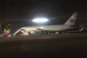 Boeing d'Air Canada: les images de l'atterrissage d'urgence à Madrid