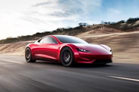 Les premières photos de l'impressionnant Tesla Roadster