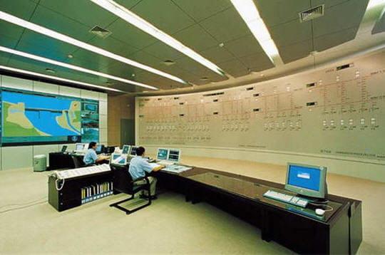 Salle de contrôle de la centrale