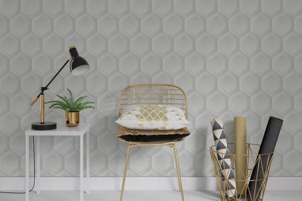 Choisir un papier peint imitation mosaïque pour un salon chic