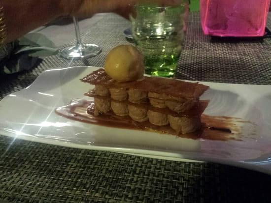 Dessert : Le Bokal  - Millefeuille au chocolat et glace de caramel au beurre salé  -