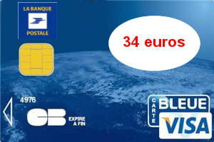 6e ex aequo   La Banque postale (Visa) : 34 euros par an