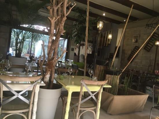 Restaurant : L'Eden  - La pièce principale et le patio -