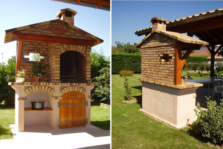 Un barbecue en briques et en b ton cellulaire - Construire barbecue beton cellulaire ...