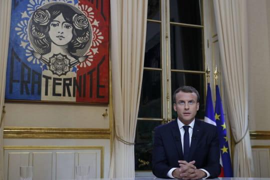 Interview de Macronsur TF1[VIDEO]: pas de surprise, sauf les tableaux