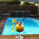 Restaurant le Saint JO  - Cocktail au bord de la piscine -