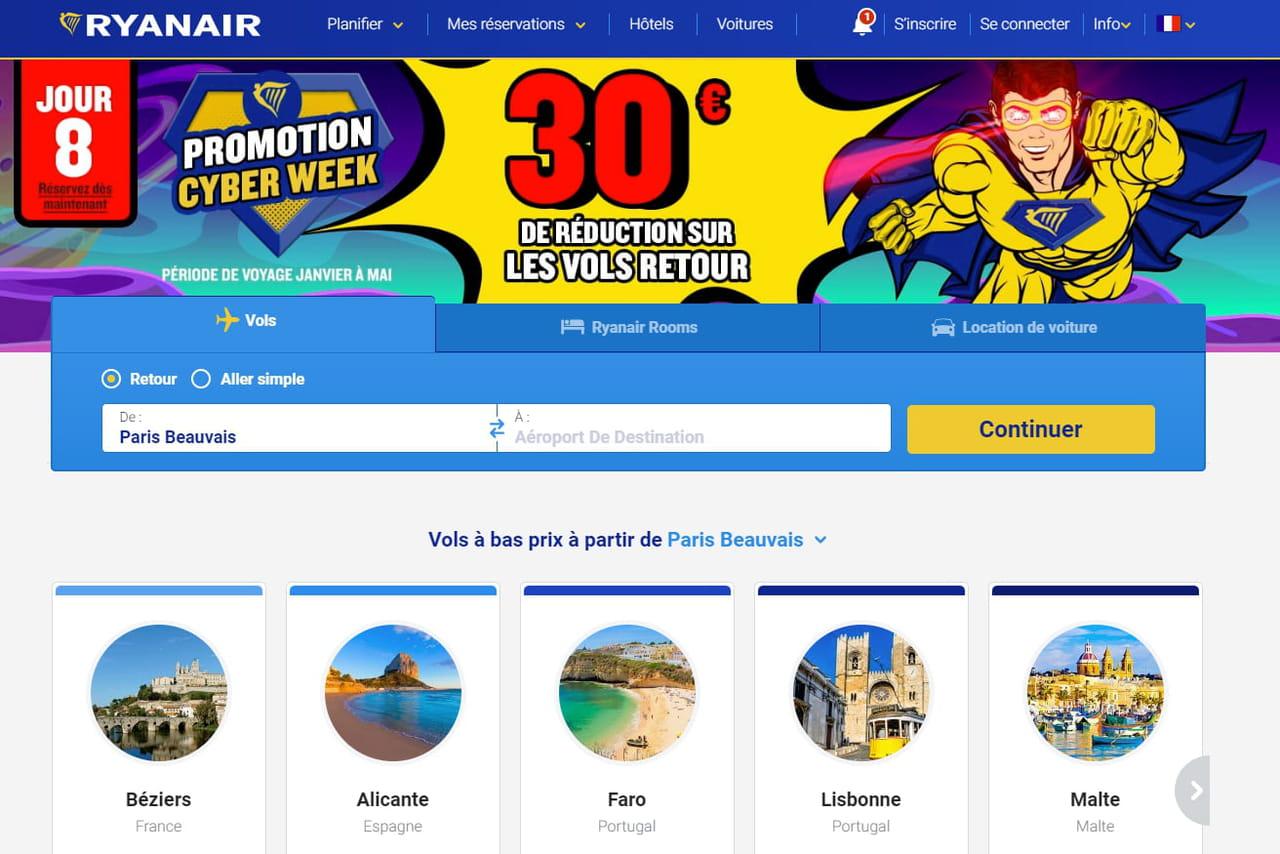 Ryanair: quelles promos ce lundi 26novembre pour le Cyber Monday?