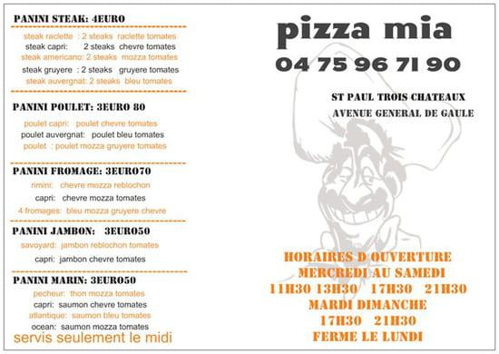 Dessert : Pizza Mia  - nouveaux horaires -   © ff
