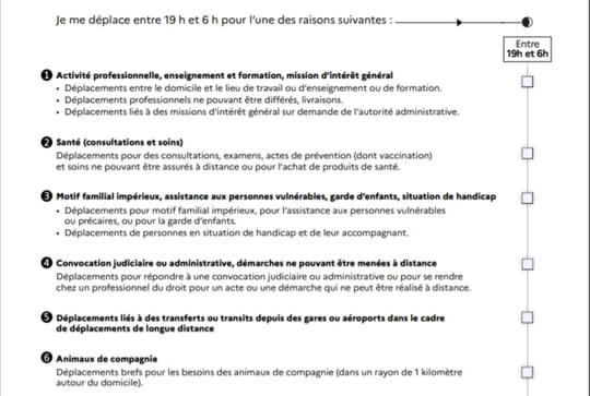 Attestation couvre-feu: un nouveau document ce 3mai, le télécharger