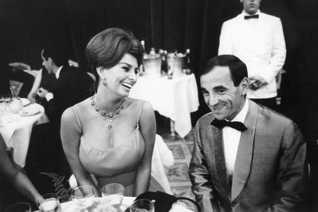 Avec Sophia Loren