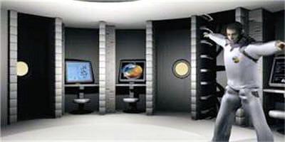 représentation en image de synthèsede la zone principale de vie de l'équipage.
