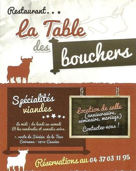 La Table des bouchers   © Carte de visite