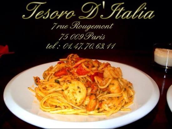 Plat : Tesoro d'Italie  - Pâte aux St. Jacques  -