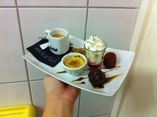Dessert : Restaurant L'Ô à la Bouche  - Café gourmand  -