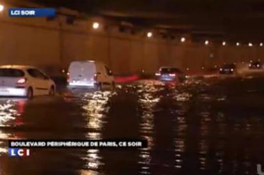 Périphérique parisien inondé: lesimages [VIDÉO]